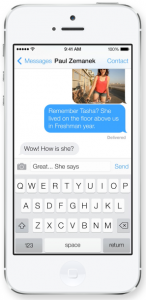 Beskeder i iOS7